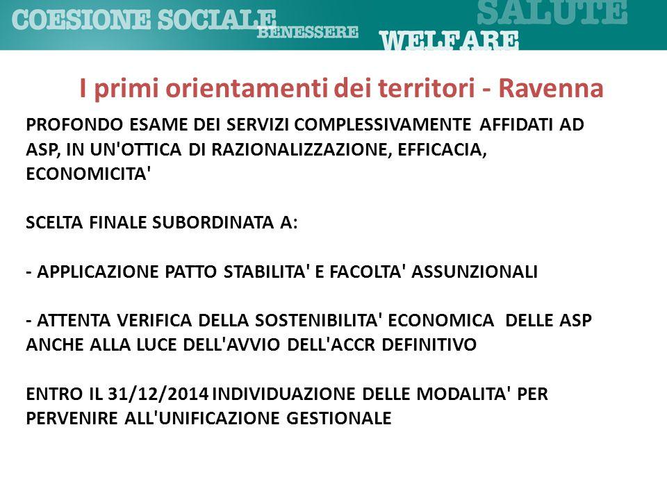 I primi orientamenti dei territori - Ravenna