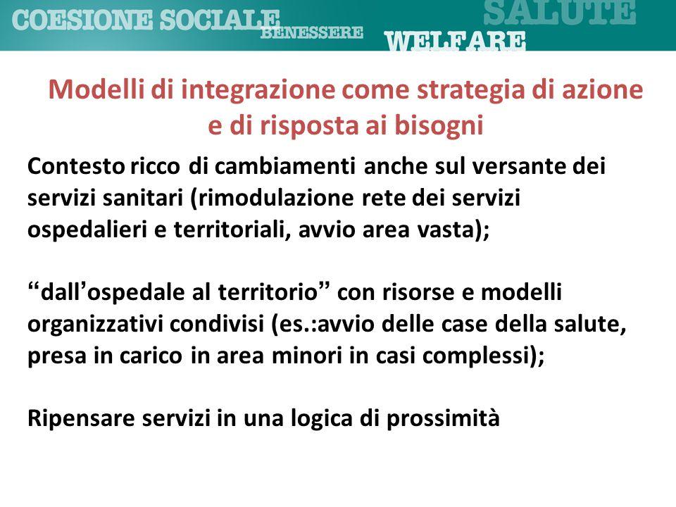 Modelli di integrazione come strategia di azione e di risposta ai bisogni