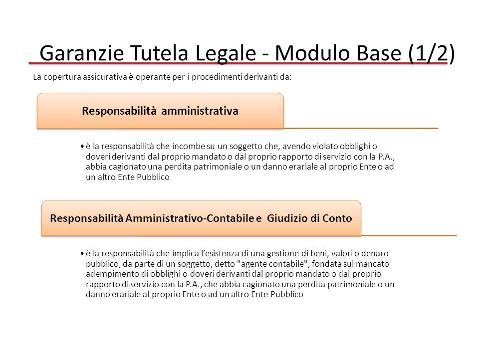 Garanzie Tutela Legale - Modulo Base (1/2)