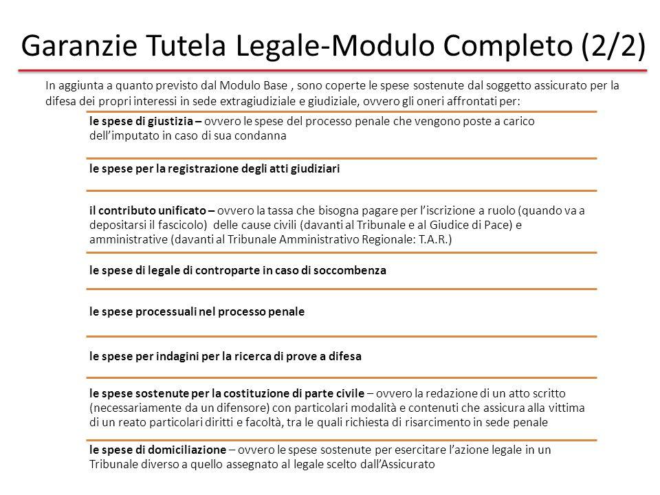 Garanzie Tutela Legale-Modulo Completo (2/2)