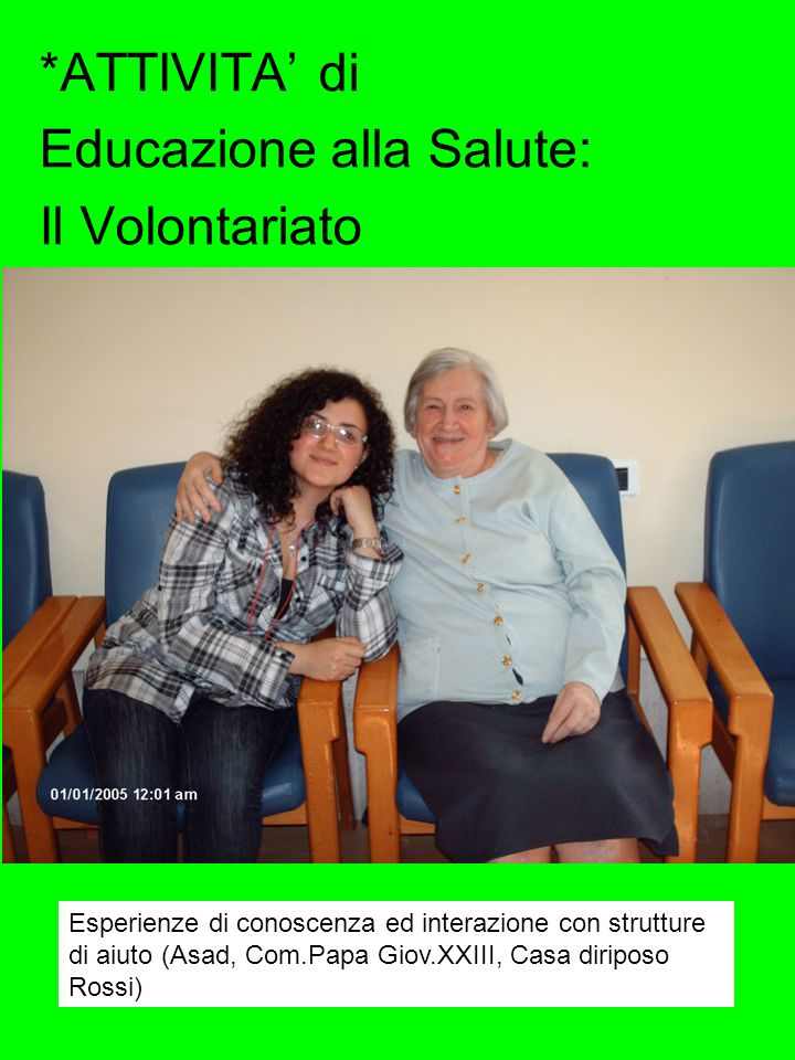 Educazione alla Salute: Il Volontariato