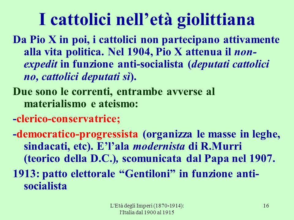 I cattolici nell'età giolittiana