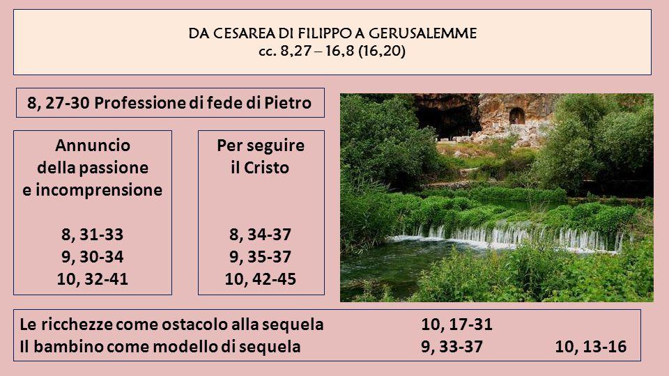 8, 27-30 Professione di fede di Pietro