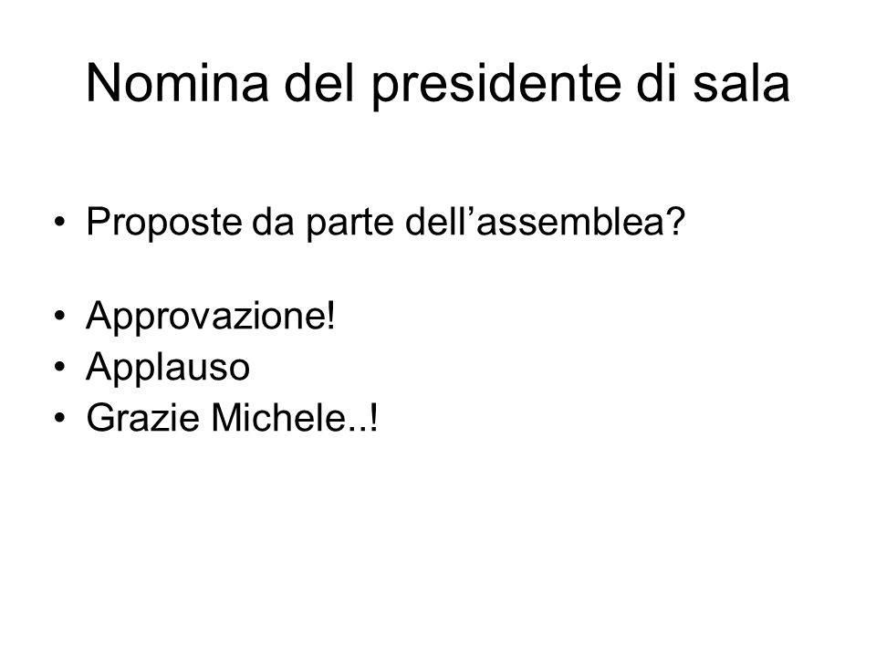 Nomina del presidente di sala