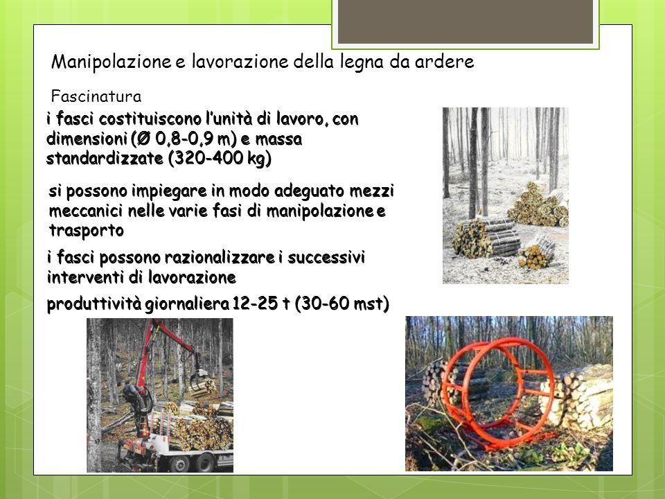 Manipolazione e lavorazione della legna da ardere