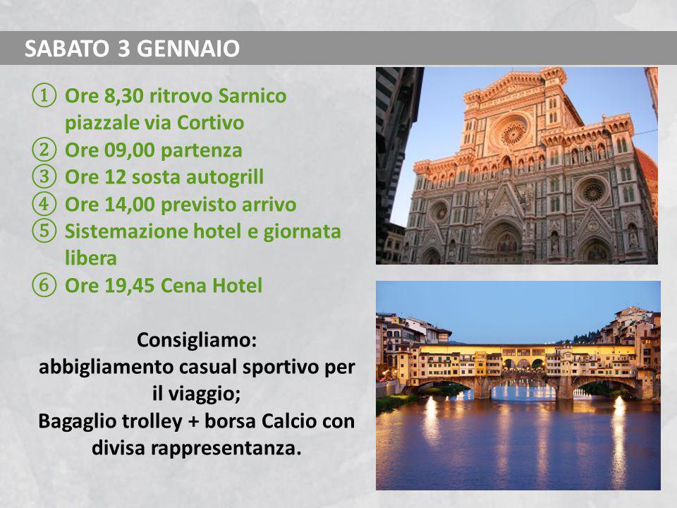 SABATO 3 GENNAIO Ore 8,30 ritrovo Sarnico piazzale via Cortivo