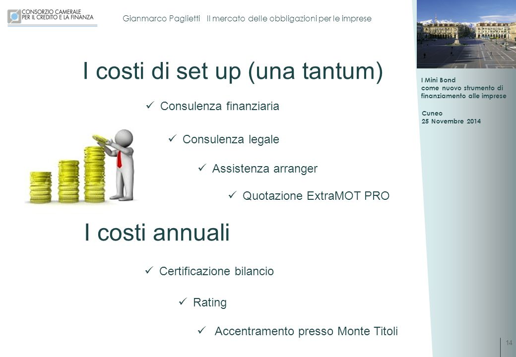 I costi di set up (una tantum)