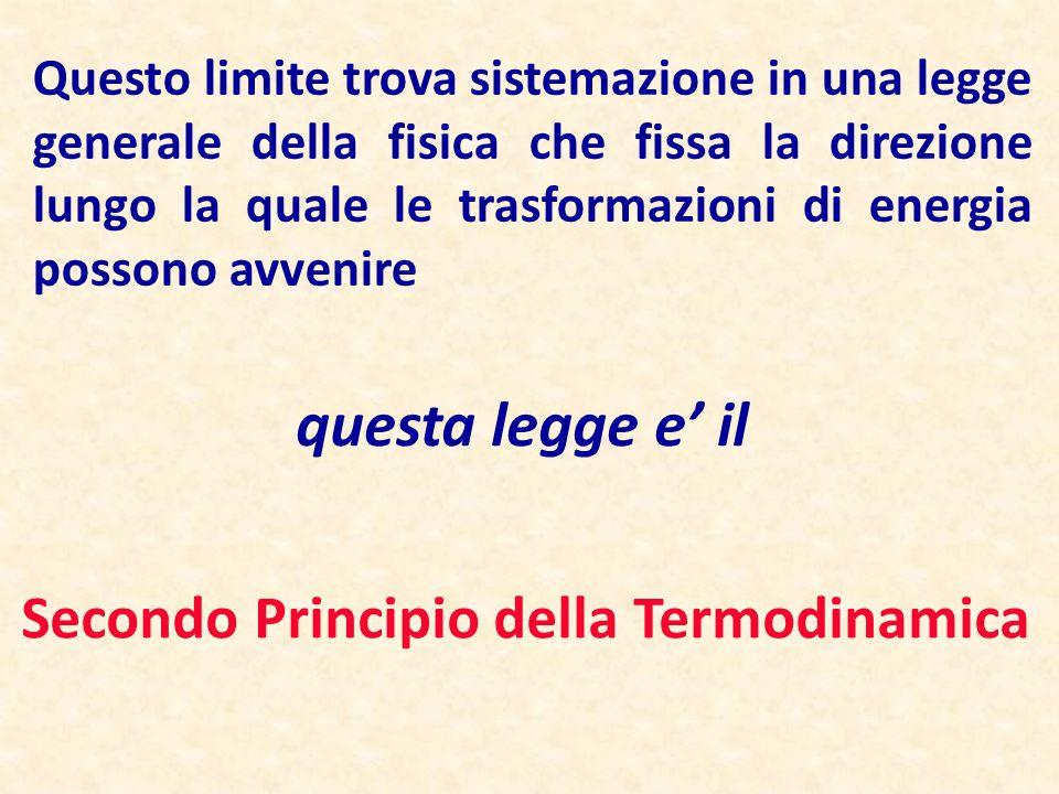 questa legge e' il Secondo Principio della Termodinamica