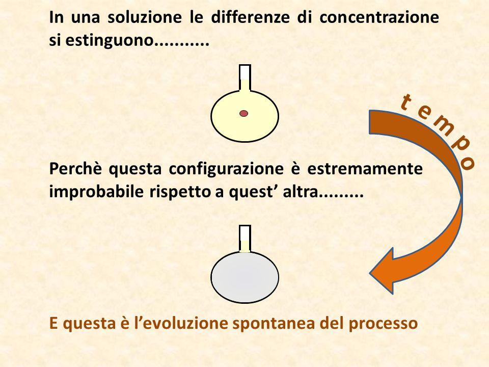 In una soluzione le differenze di concentrazione si estinguono...........
