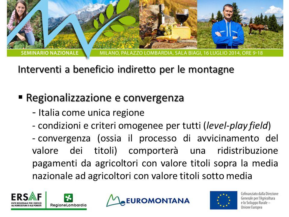 Regionalizzazione e convergenza - Italia come unica regione