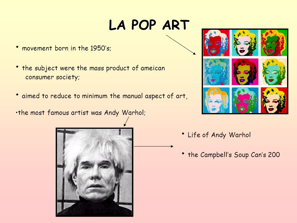 LA POP ART movement born in the 1950's;