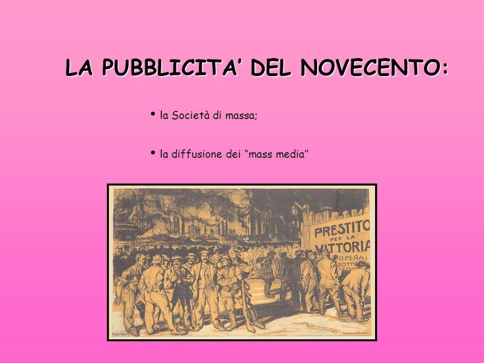 LA PUBBLICITA' DEL NOVECENTO: