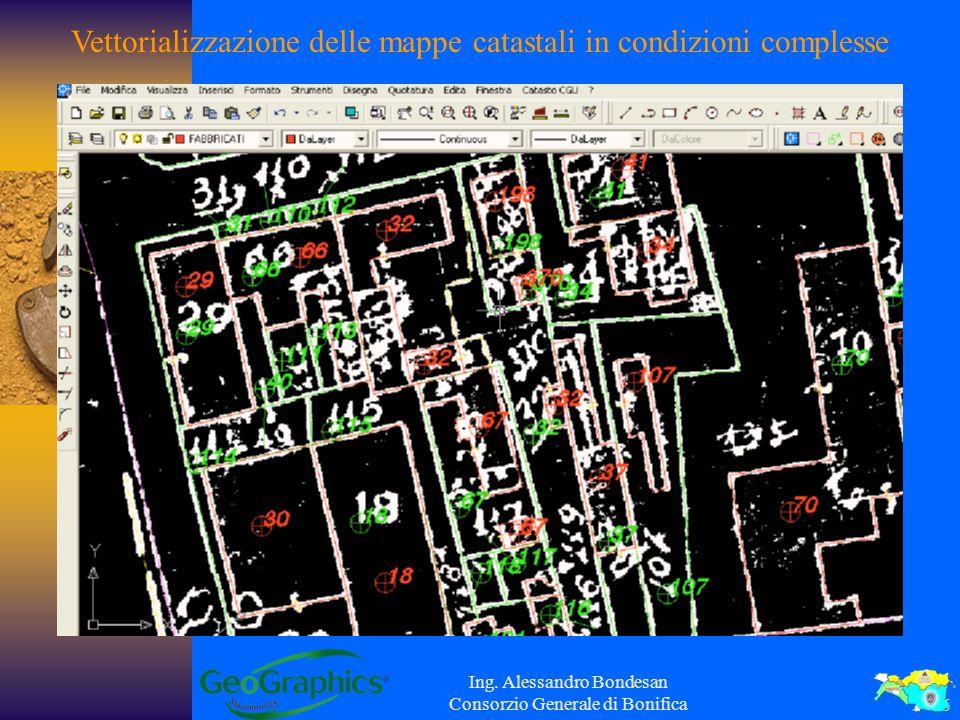 Vettorializzazione delle mappe catastali in condizioni complesse