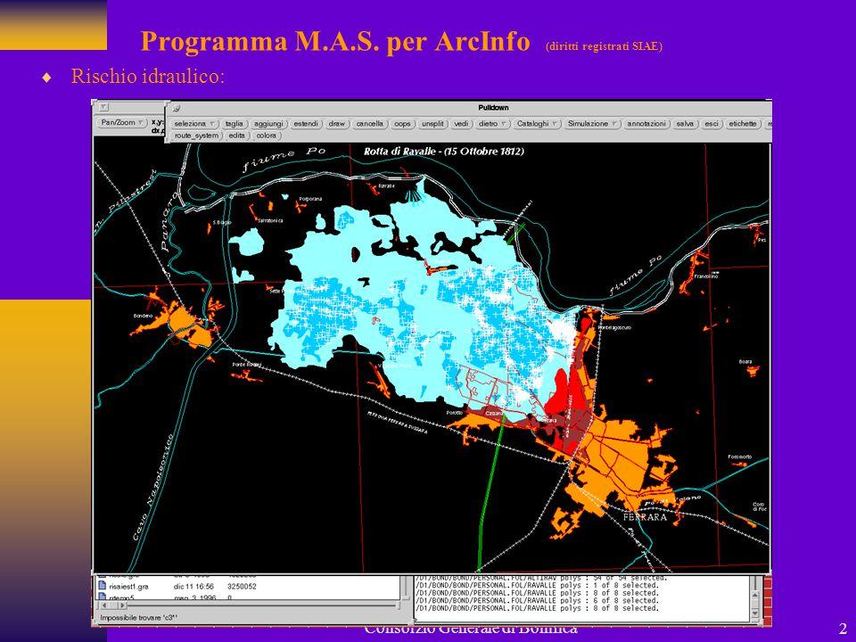 Programma M.A.S. per ArcInfo (diritti registrati SIAE)