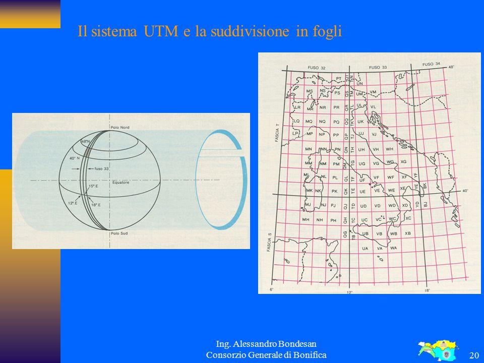 Il sistema UTM e la suddivisione in fogli