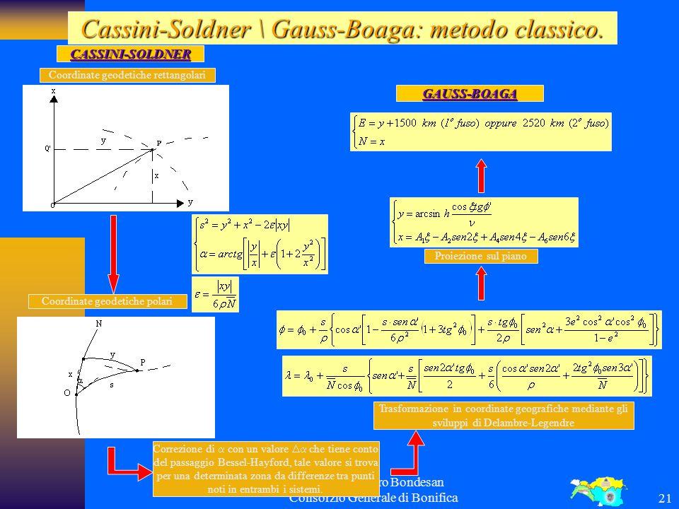 Cassini-Soldner \ Gauss-Boaga: metodo classico.