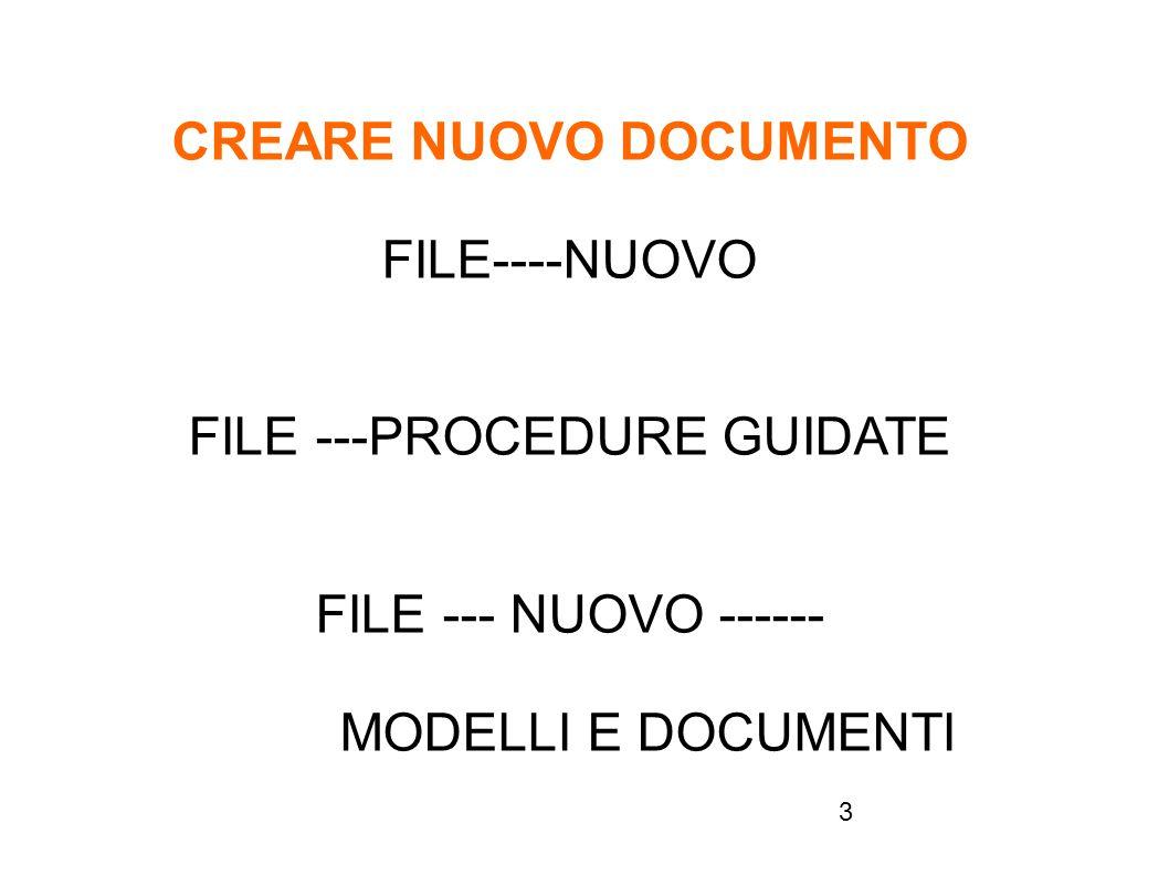 CREARE NUOVO DOCUMENTO