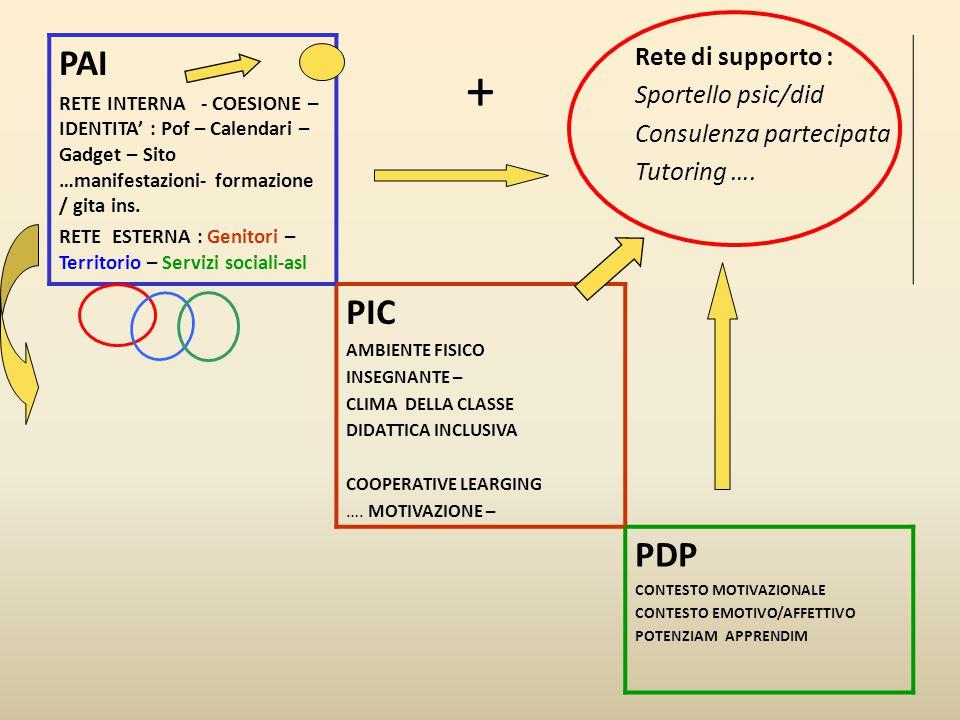 + PAI PIC PDP Rete di supporto : Sportello psic/did