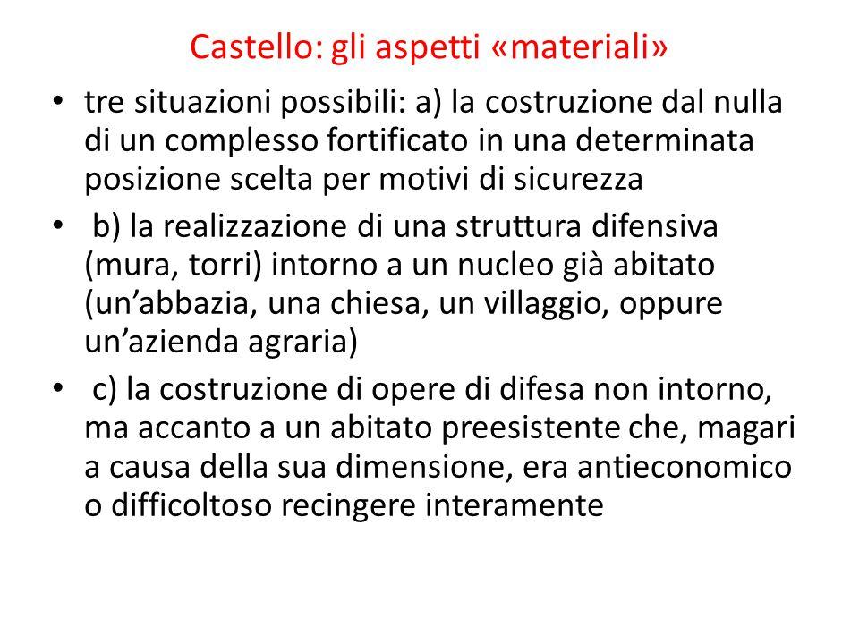 Castello: gli aspetti «materiali»