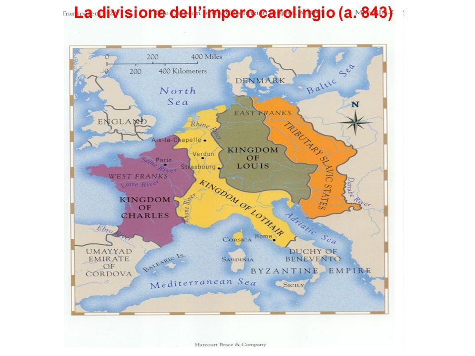 La divisione dell'impero carolingio (a. 843)