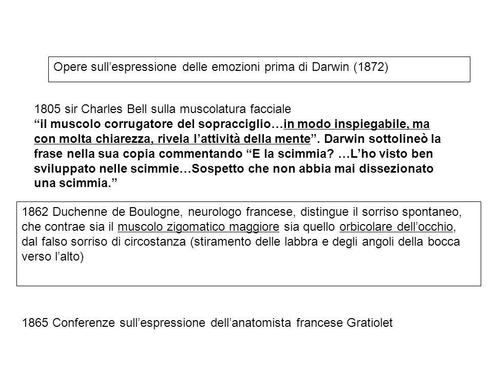 Opere sull'espressione delle emozioni prima di Darwin (1872)
