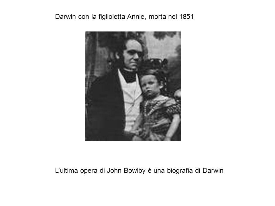 Darwin con la figlioletta Annie, morta nel 1851