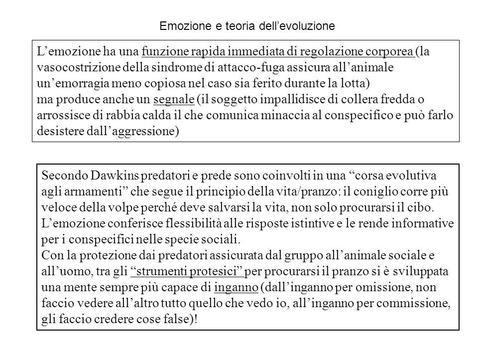 Emozione e teoria dell'evoluzione