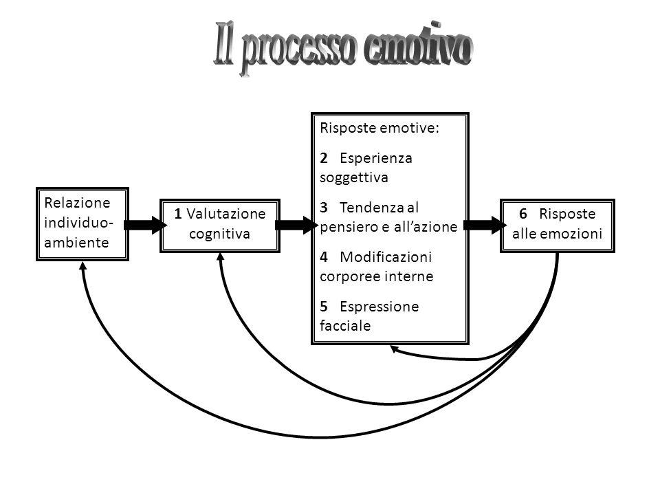 Il processo emotivo Relazione individuo-ambiente