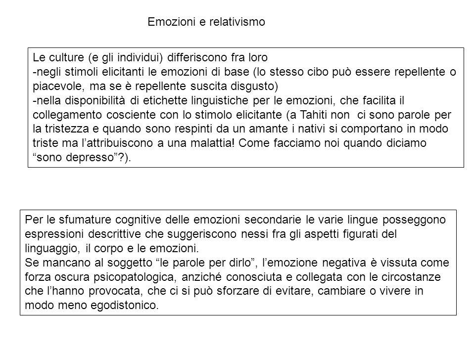 Emozioni e relativismo