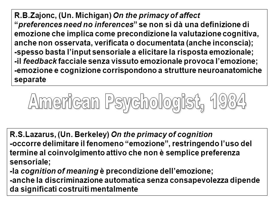 American Psychologist, 1984