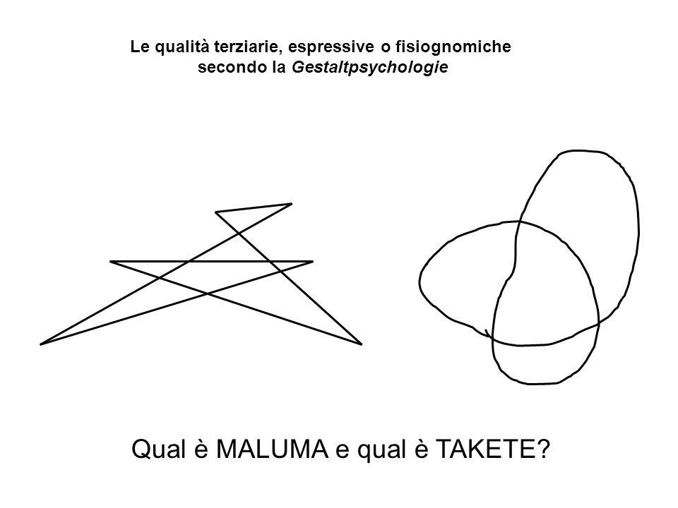 Qual è MALUMA e qual è TAKETE