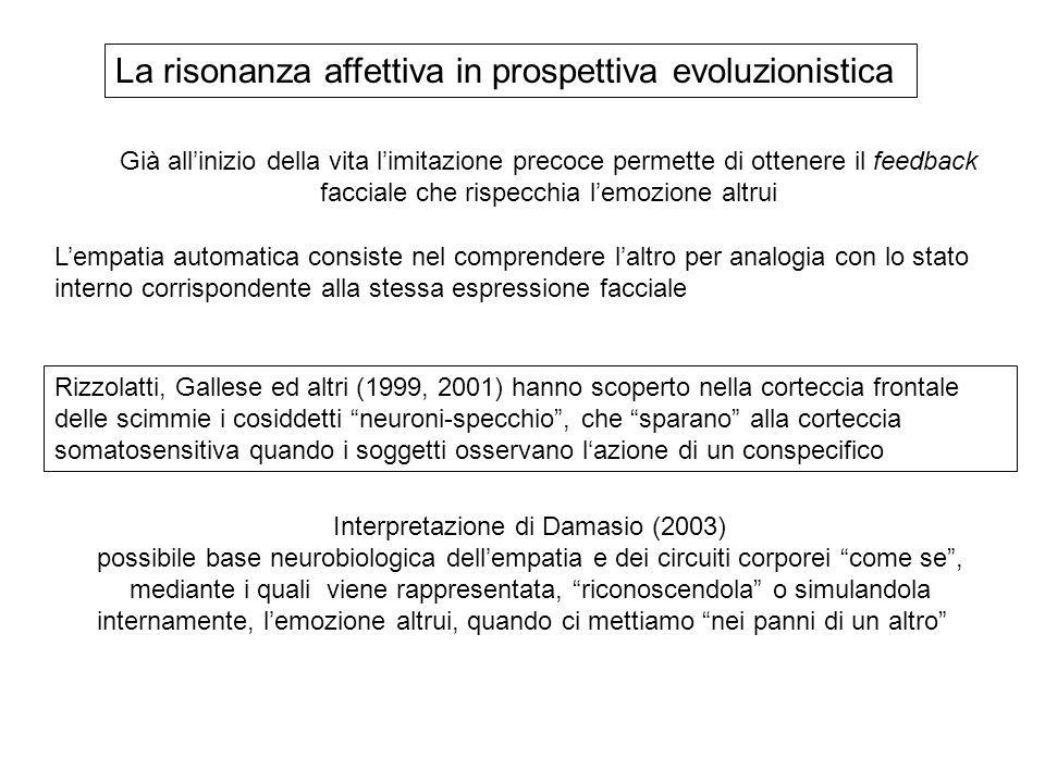 Interpretazione di Damasio (2003)
