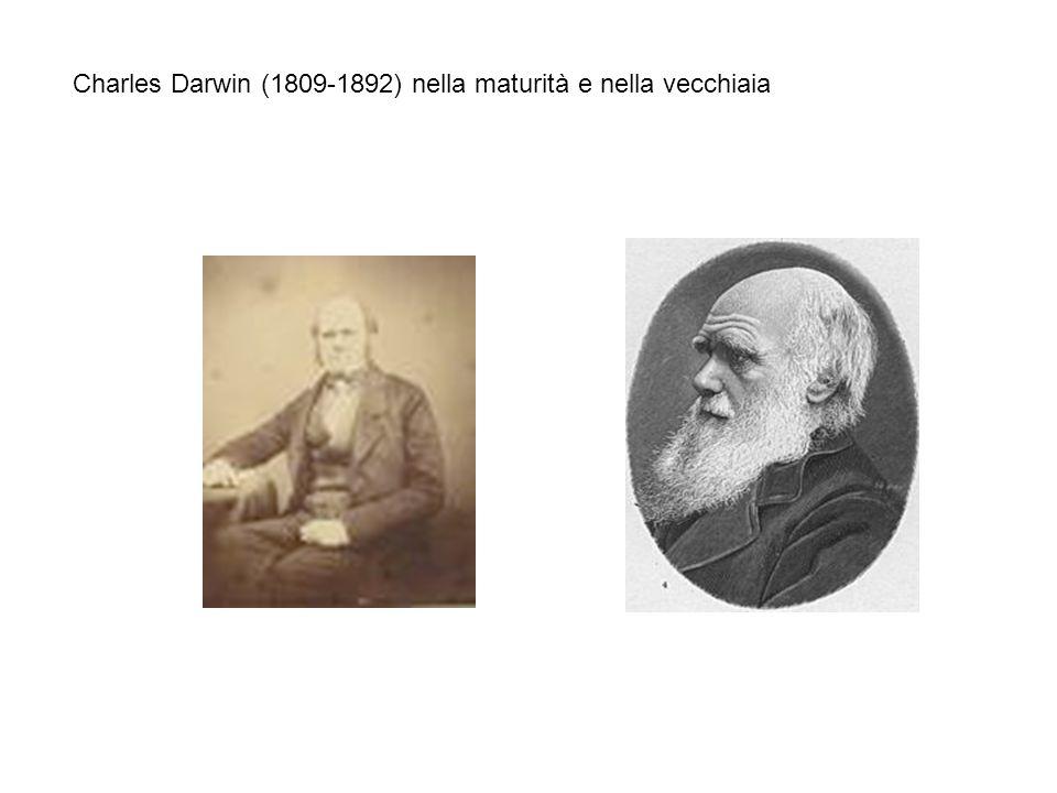 Charles Darwin (1809-1892) nella maturità e nella vecchiaia