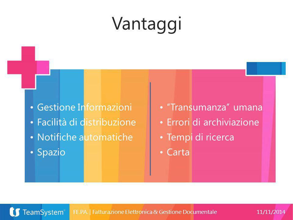Vantaggi Gestione Informazioni Facilità di distribuzione