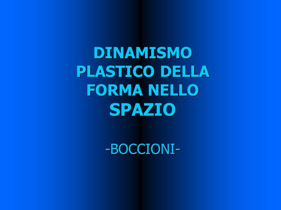 DINAMISMO PLASTICO DELLA FORMA NELLO SPAZIO -BOCCIONI-