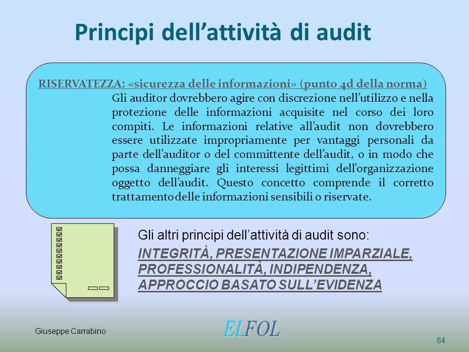 Principi dell'attività di audit