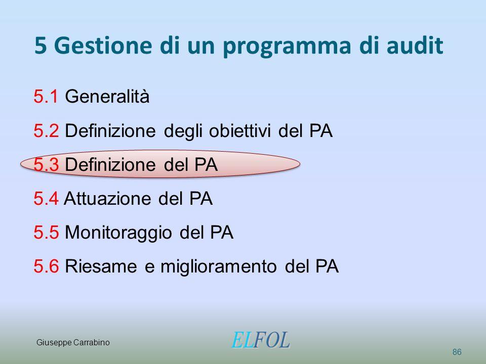 5 Gestione di un programma di audit