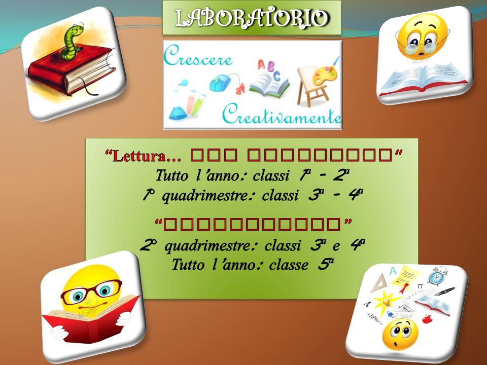 LABORATORIO Lettura… che avventura Tutto l'anno: classi 1ª - 2ª