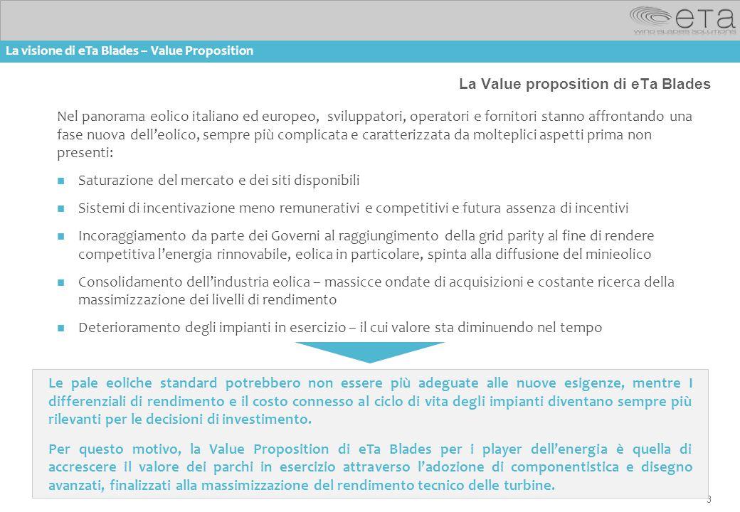 La Value proposition di eTa Blades