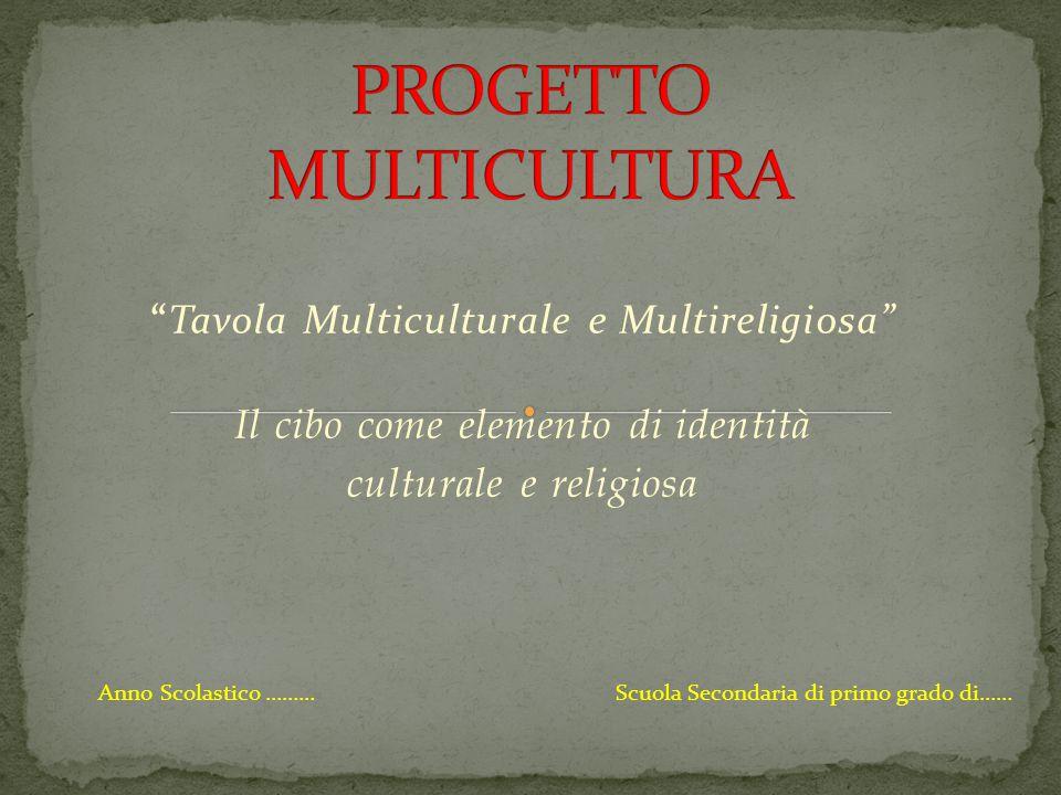 PROGETTO MULTICULTURA
