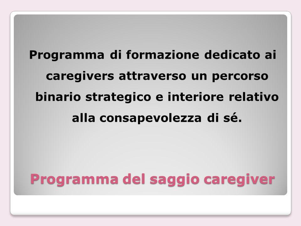 Programma del saggio caregiver