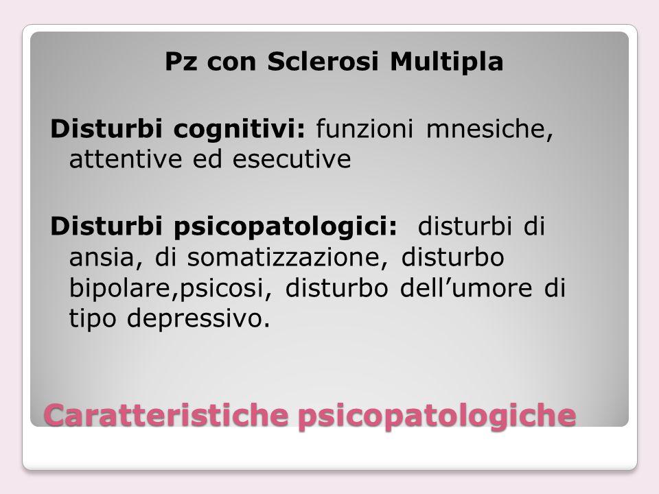 Caratteristiche psicopatologiche