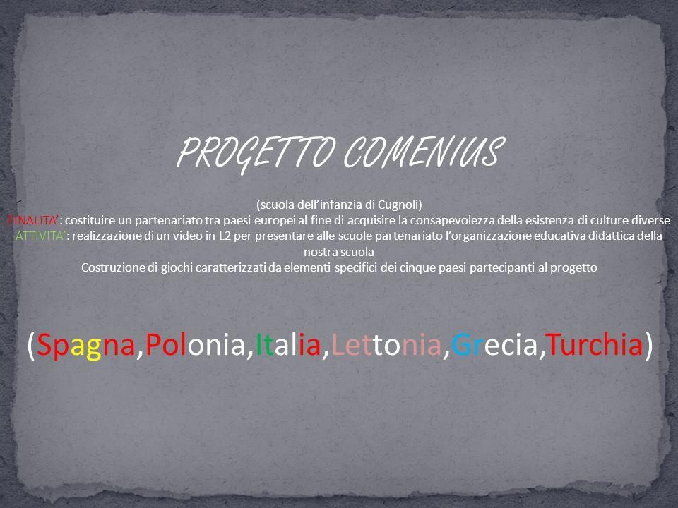 PROGETTO COMENIUS (scuola dell'infanzia di Cugnoli)