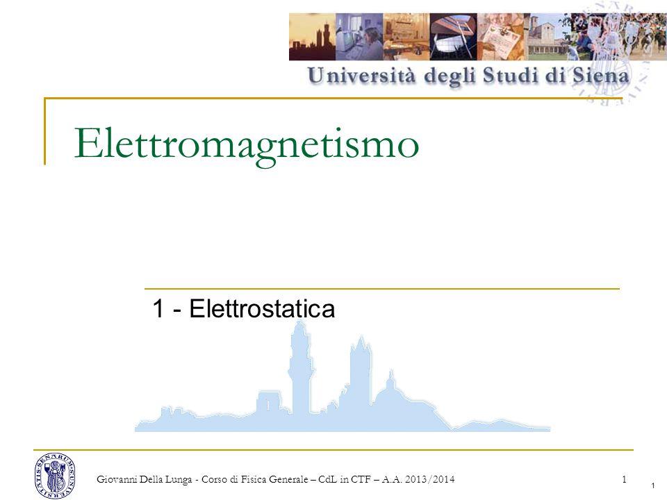 Elettromagnetismo 1 - Elettrostatica