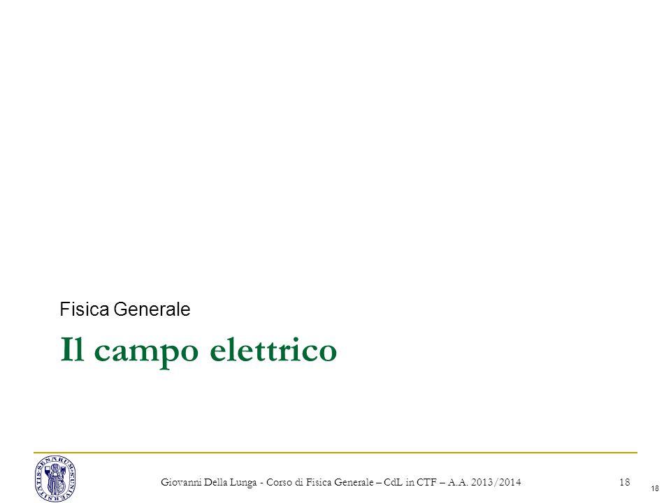 Il campo elettrico Fisica Generale