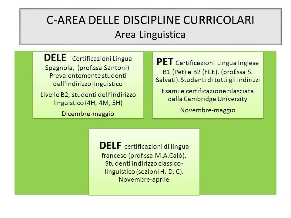 C-AREA DELLE DISCIPLINE CURRICOLARI Area Linguistica