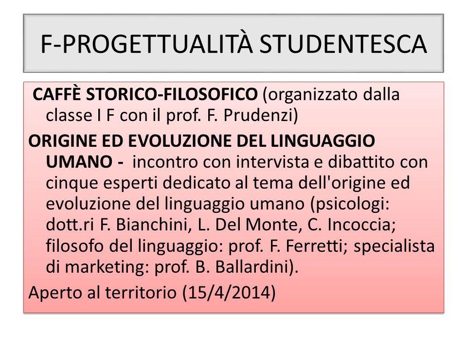 F-PROGETTUALITÀ STUDENTESCA