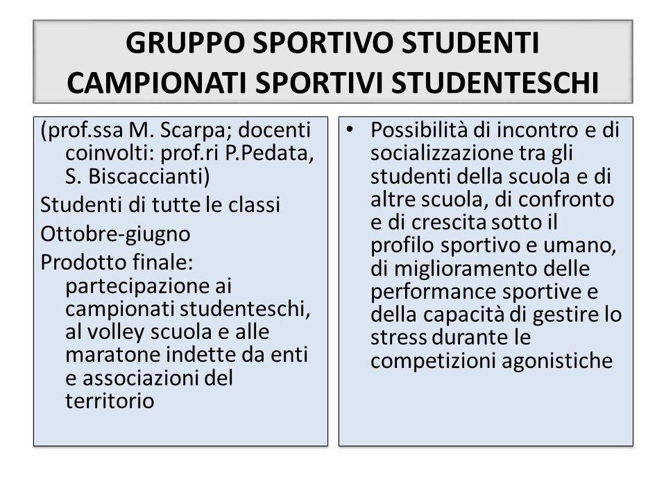 GRUPPO SPORTIVO STUDENTI CAMPIONATI SPORTIVI STUDENTESCHI
