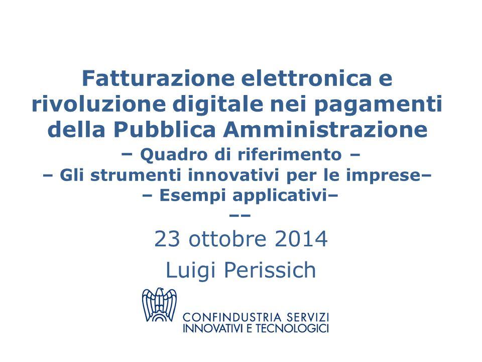 23 ottobre 2014 Luigi Perissich