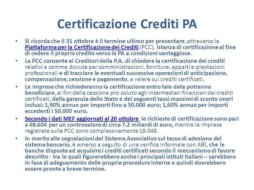 Certificazione Crediti PA